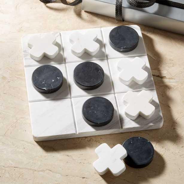 Marble Tic Tac Toe Set - CB2