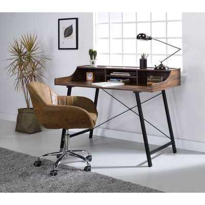 Antique Sange Desk Computer Desk Working Station With Usb Charging Dock - Wayfair