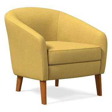 Jonah Chair, Basket Slub, Dark Horseradish, Pecan - West Elm