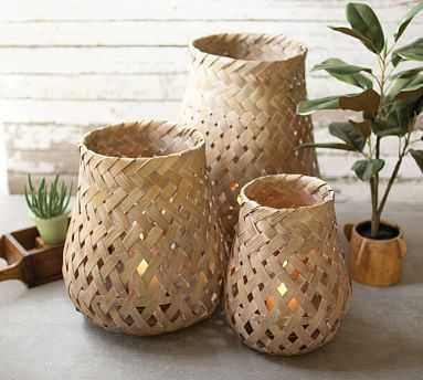 Bamboo Lanterns, Set of 3 - Pottery Barn