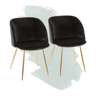 Corinne Velvet Upholstered Arm Chair - Wayfair