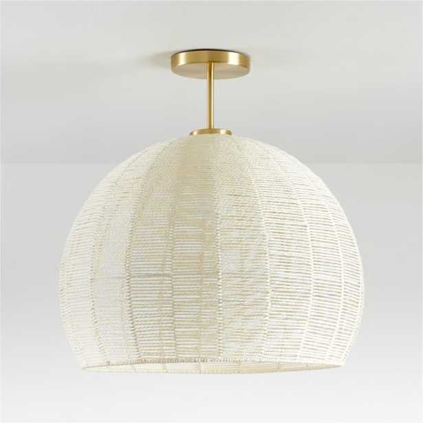 Ivory Woven Rope Flushmount - Crate and Barrel