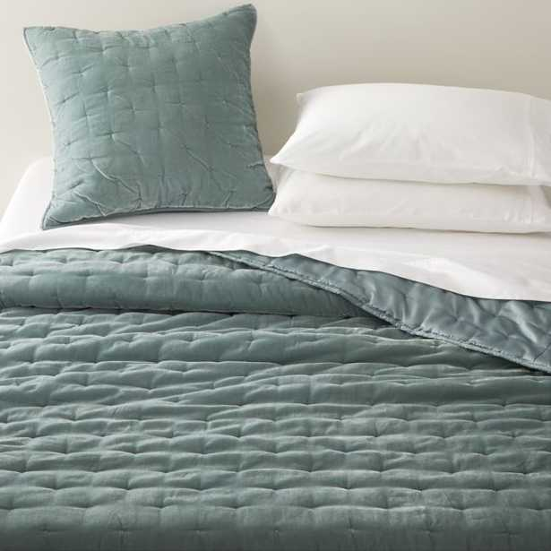 Audra Lead Velvet King Quilt - Crate and Barrel