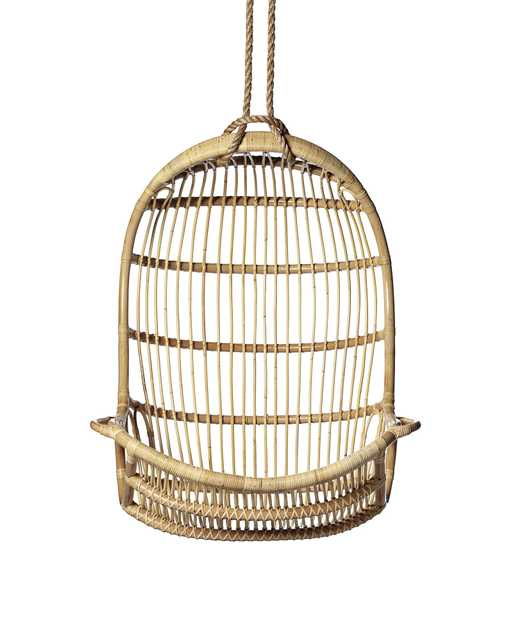 Hanging Rattan Chair - Serena and Lily
