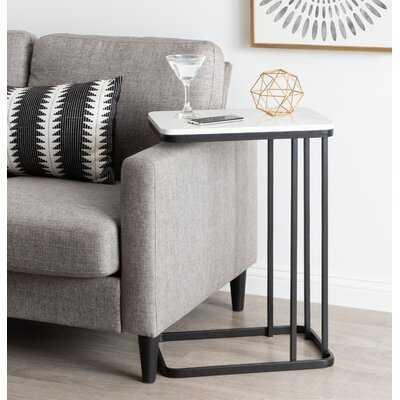 Marble Top C-Table End Table - Wayfair