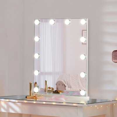 Vanity Hollywood Touch Control Frameless Lighted Makeup Mirror - Wayfair