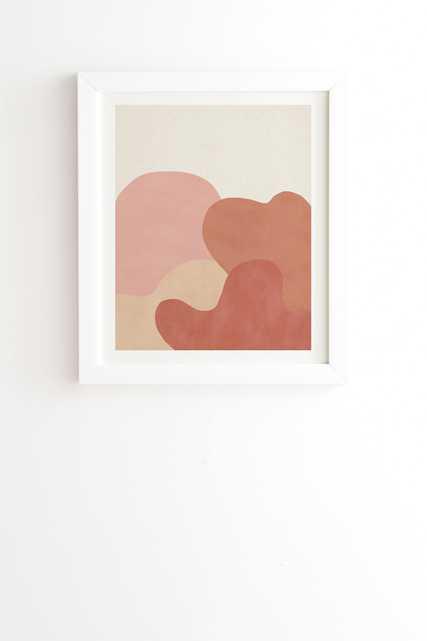"Strange Landscape by Rose Beck - Framed Wall Art Basic White 11"" x 13"" - Wander Print Co."