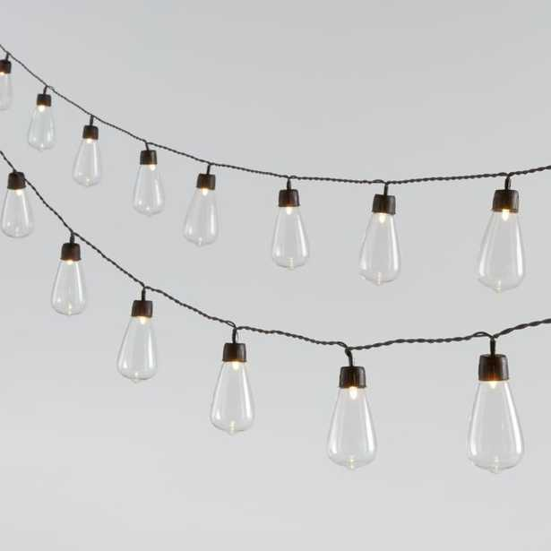 20-Count Solar Drop String Lights, Set of 2 - Crate and Barrel
