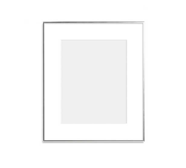 """Thin Metal Gallery Frame, 3"""" Mat, 11x14 - Bright Silver - Pottery Barn"""
