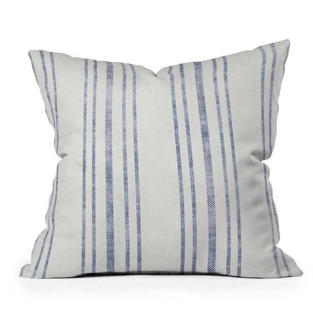 "Aegean Multi Stripe by Holli Zollinger - Outdoor Throw Pillow 18"" x 18"" - Wander Print Co."