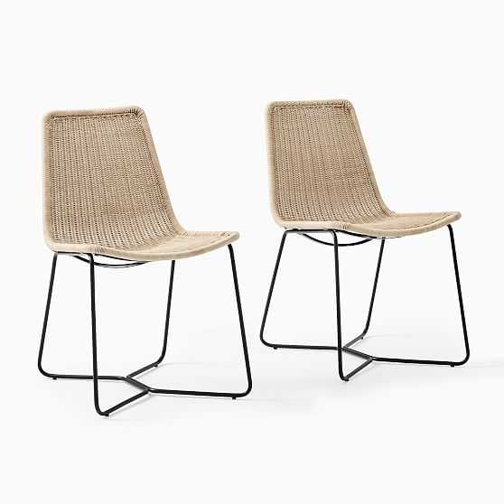 Slope Outdoor Dining Chair, S/2 Natural - West Elm