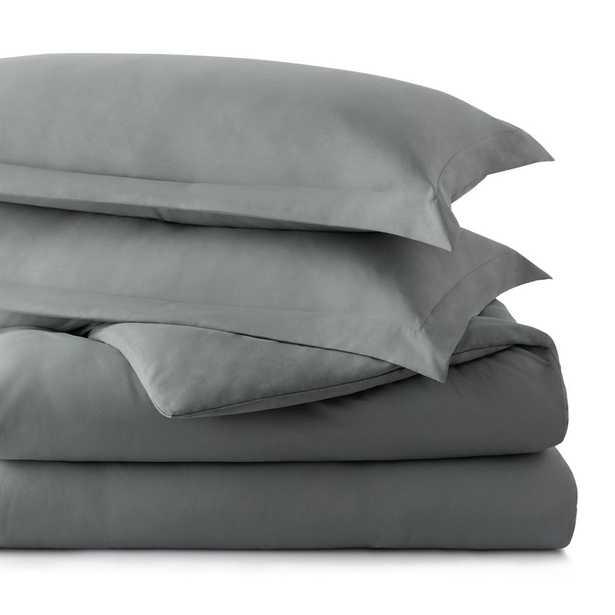 Brookside Microfiber Duvet Cover, Charcoal, King, Grey - Home Depot