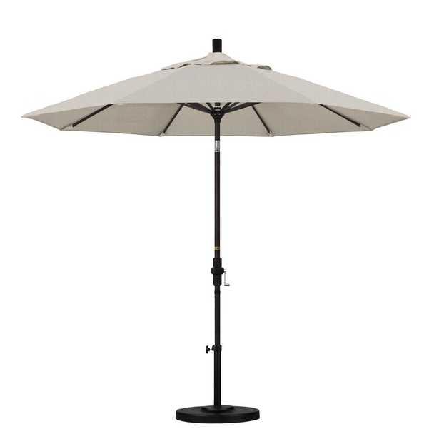 California Umbrella 9 ft. Aluminum Collar Tilt Patio Umbrella in Granite Olefin - Home Depot