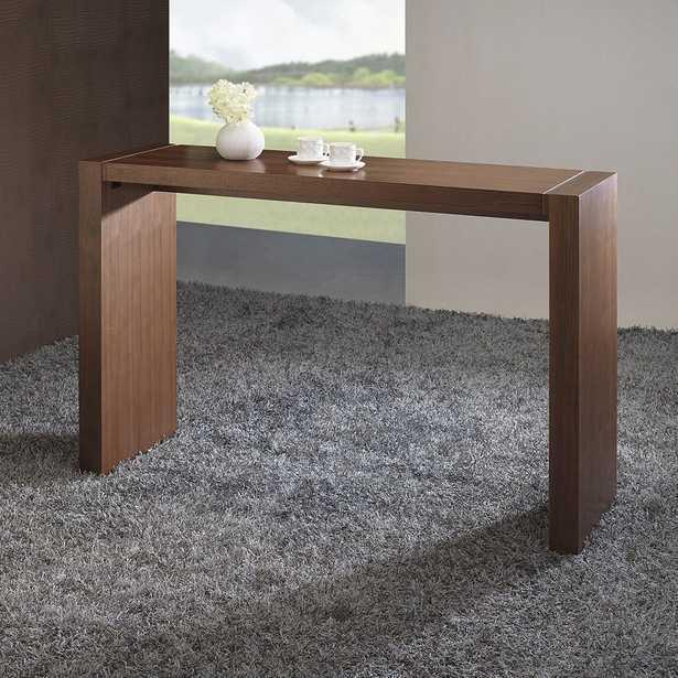 "Dorian 60"" Wide Walnut Rectangular Bar Table - Style # 90N78 - Lamps Plus"