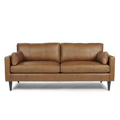 Cayenna Genuine Leather 81'' Square Arm Sofa - Wayfair
