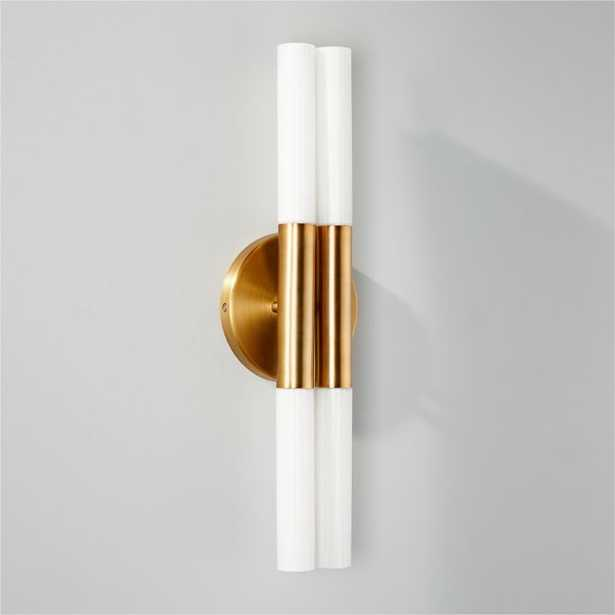 Bella Fluted Brass Wall Sconce RESTOCK Mid March 2021 - CB2