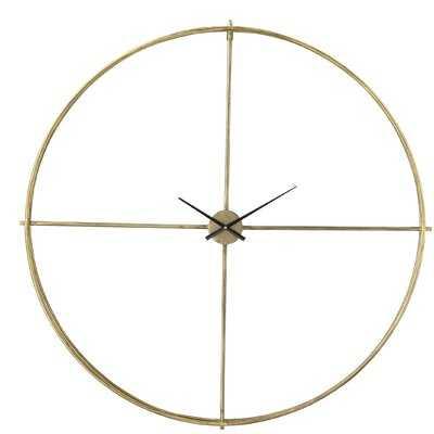 "Hoff Oversized 48.75"" Wall Clock - Wayfair"