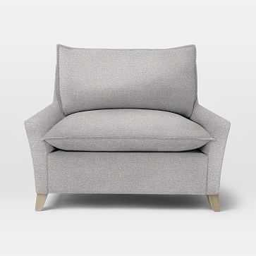Bliss Down-Filled Chair-and-a-Half, Chenille Tweed, Frost Gray, Ash - West Elm