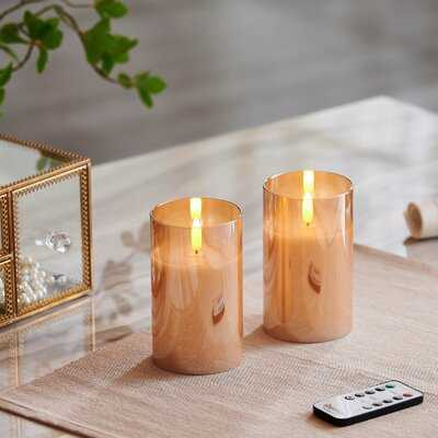 2 Piece Unscented Pillar Candle Set - Wayfair