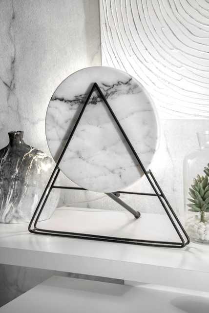 "Kentwood 17"" Iron & Marble Table Lamp - Loom 23"