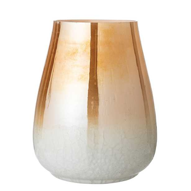Amber Glass Vase with Pearlized Finish - Moss & Wilder