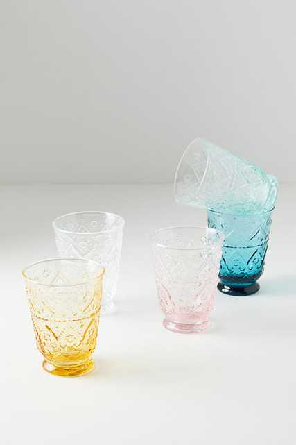 Bombay Glasses, Set of 4 By Anthropologie in Yellow Size S/4 juice - Anthropologie