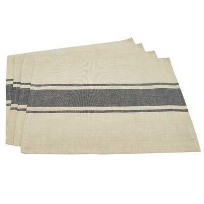 "Bertrand Banded 20"" Cotton Placemat - Set of 4 - Birch Lane"