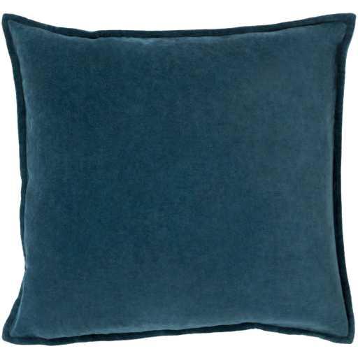 """Cotton Velvet Pillow, 18"""" x 18"""", Teal - Neva Home"""