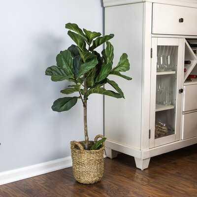 "30"" Artificial Fiddle Leaf Fig Tree in Basket - Birch Lane"