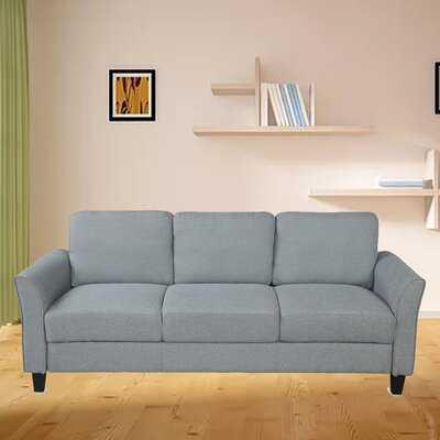 """Bozdana 76"""" Wide Flared Arm Sofa - Wayfair"""