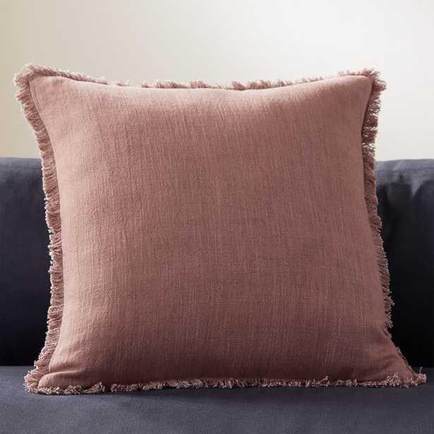 "20"" Eyelash Mauve Pillow with Down-Alternative Insert - CB2"