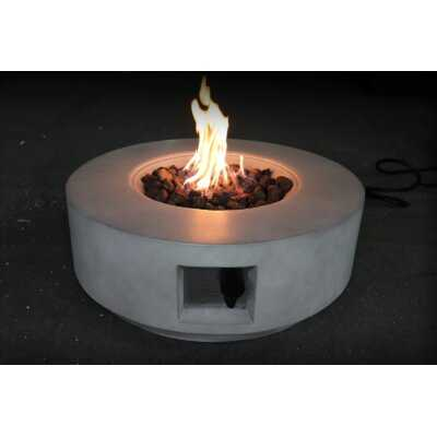 Aly Fiber Cast Concrete / Burner Stainless Steel Propane/Natural Gas Fire Pit Table - AllModern