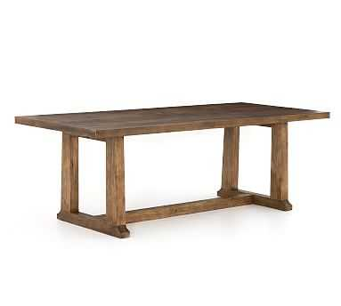"""Jade Reclaimed Wood Dining Table, 87""""L x 39""""W, Pine - Pottery Barn"""