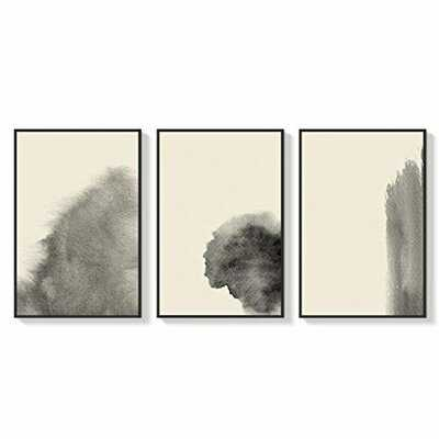 """Ivy Bronx Framed Canvas Wall Art For Living Room, Bedroom Abstract Zen Canvas Prints For Home Decoration Ready To Hanging - 24""""X36""""X3 Panels - Wayfair"""