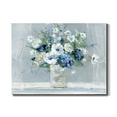 Be Happy Blue by J Paul - Wrapped Canvas Painting Print - Wayfair