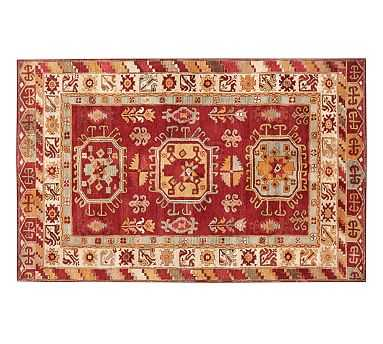 Channing Persian-Style Hand Tufted Wool Rug - Red - Pottery Barn