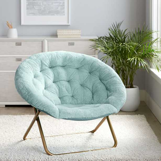 Recycled Cozy Sherpa Hang-A-Round Chair, Turquoise - Pottery Barn Teen