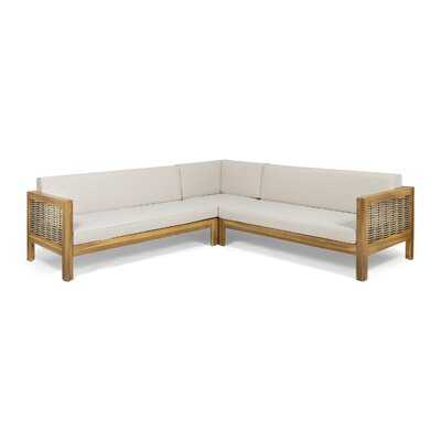 Kennison Patio Sectional with Cushions - AllModern