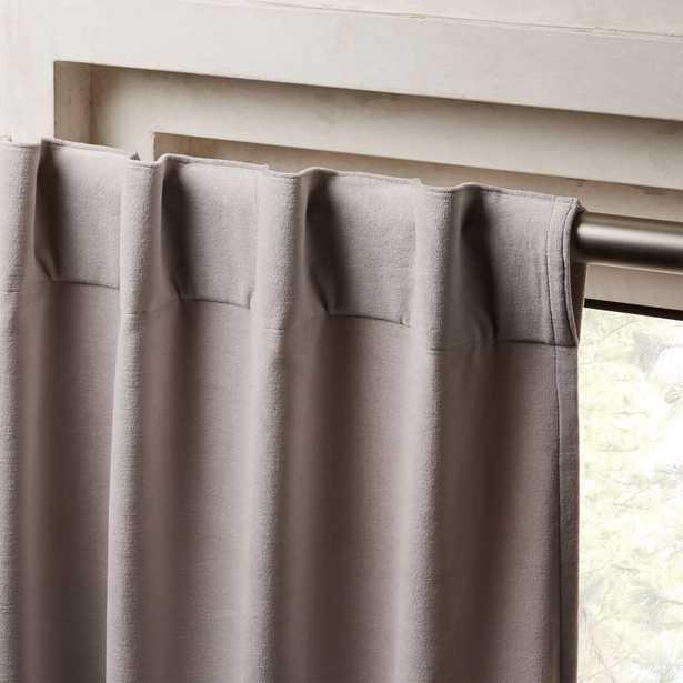 "Velvet Silver Grey Curtain Panel 48""x96"" - CB2"