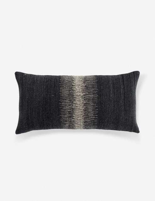 Ulsa Lumbar Pillow, Black and Gray Down - Lulu and Georgia