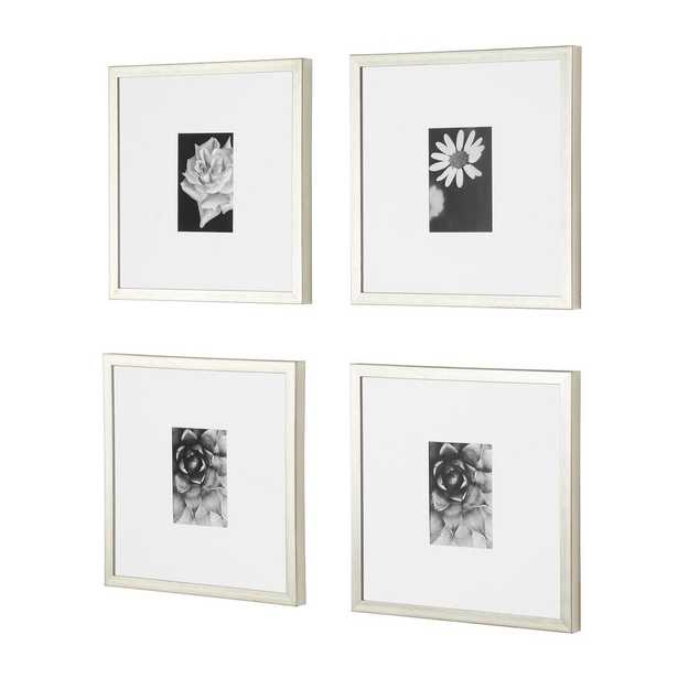 StyleWell Silver Frame with White Matte Gallery Wall Picture Frames (Set of 4) - Home Depot