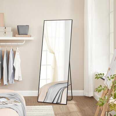 Mercer41 Full Length Mirror, 22 X 1.6 X 65 Inches, Free Standing Or Wall Mounted, Vertical Horizontal Hanging, For Bedroom, Living Room, Bathroom, Black 5FBB5D86ED4E45E2BDD1A7094DD2860E - Wayfair