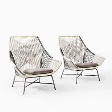 Huron Large Lounge Chairs Set of 2 - West Elm