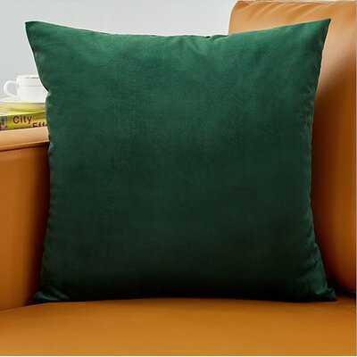 Horatio Square Velvet Pillow Cover - Wayfair