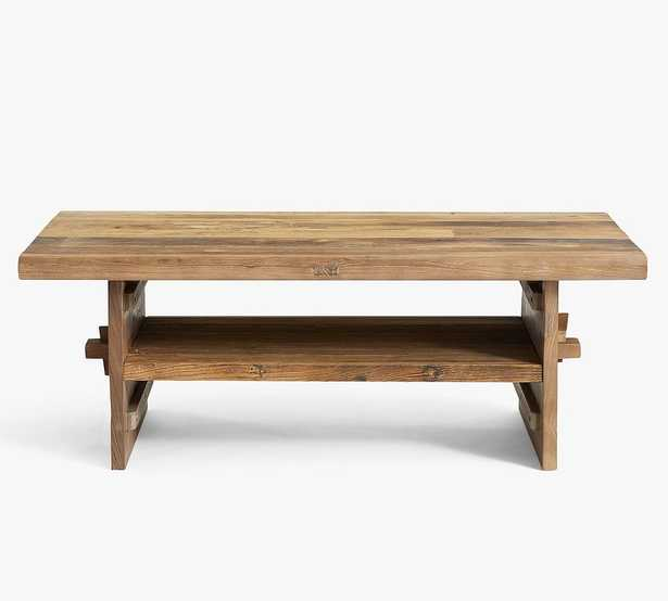 Easton Reclaimed Wood Coffee Table, Weathered Elm - Pottery Barn