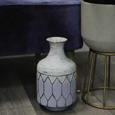 Atwells Metal Table Vase - Wayfair