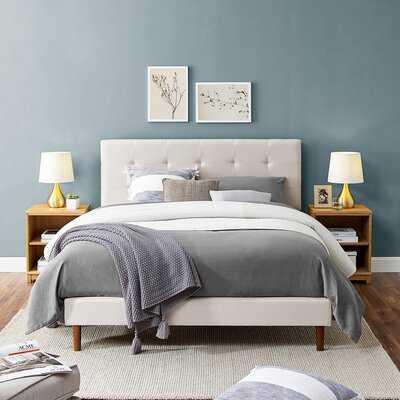 Dewane Tufted Low Profile Platform Bed - Wayfair
