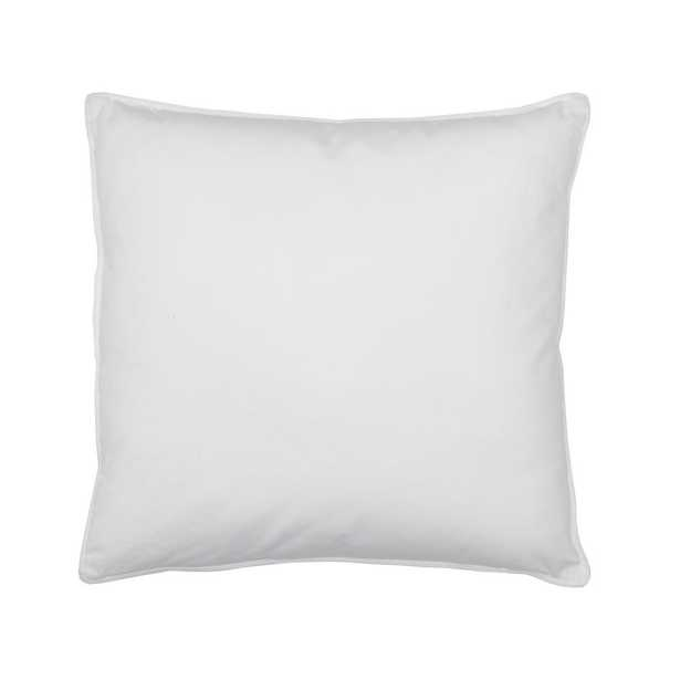 Company Cotton White Down Decorative Pillow Insert, 18 in. x 18 in. - Home Depot