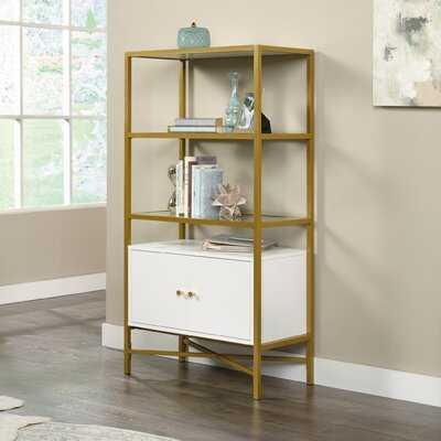 Delgado 51.58'' H x 27.56'' W Metal Etagere Bookcase - Wayfair