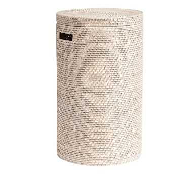 Tava Single Hamper, White Wash - Pottery Barn